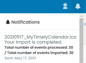print screen of the status of a file successfully uploaded in the notifications area of the Timely dashboard