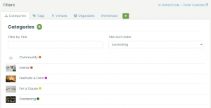 print screen of Timely's dashboard with some examples of categories you can create