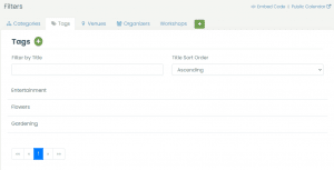 print screen of Timely's dashboard with some examples of tags you can create