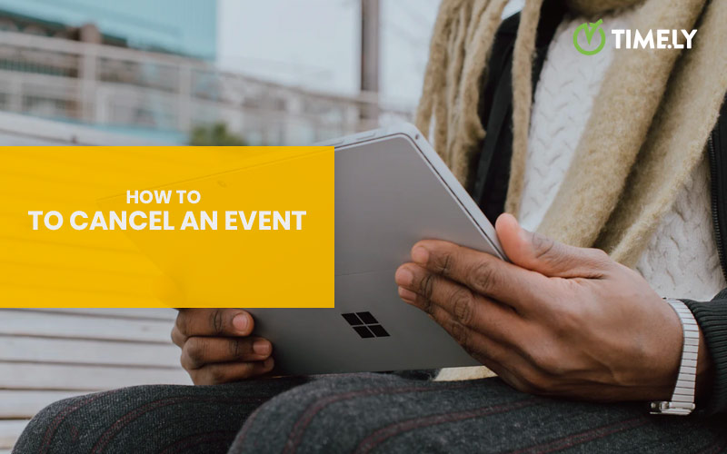 How to cancel an event