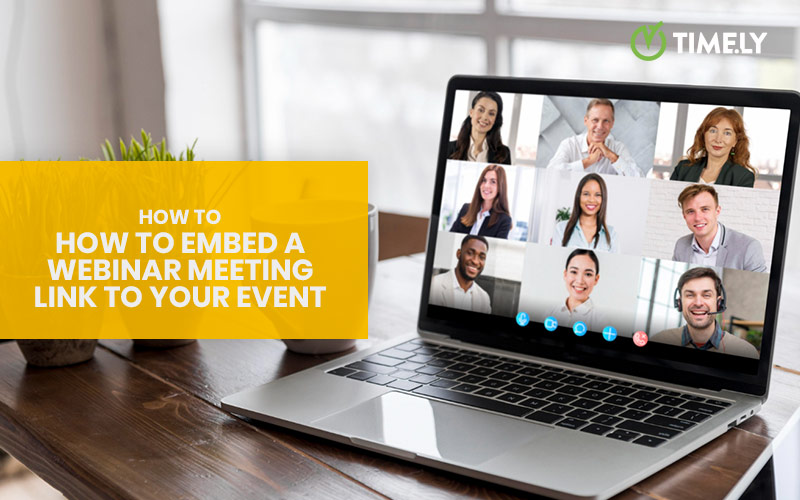 How to embed a webinar meeting link to your event